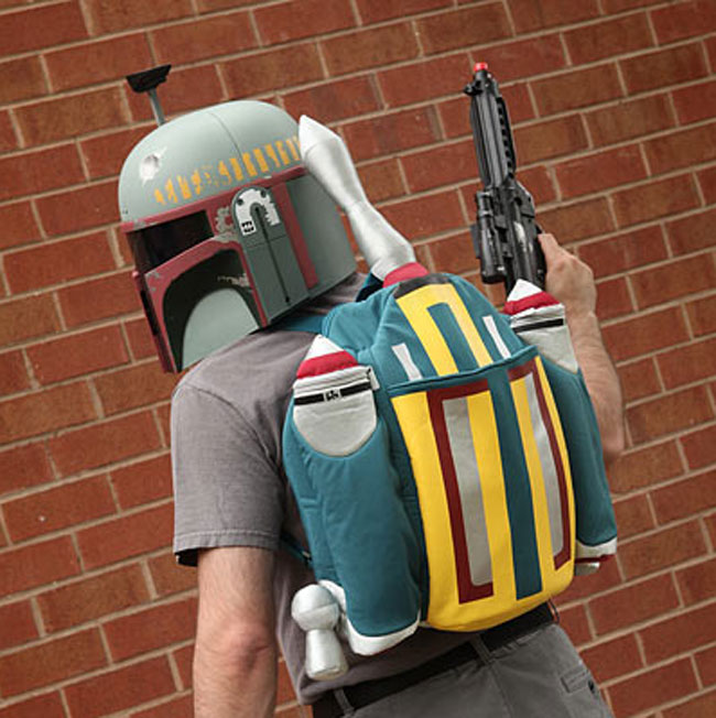 Star Wars Boba Fett Plush Rocket Backpack