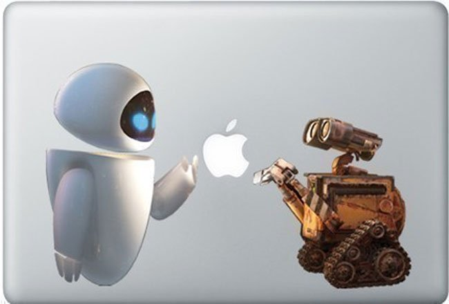 Wall-E And Eva Macbook Decal