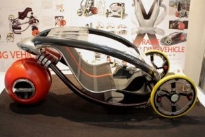 X-Frame electric folding car