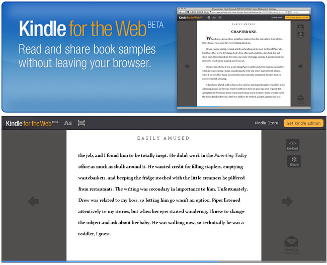 Amazon Kindle For The Web Announced