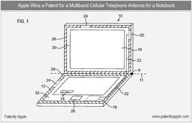 Apple Gets 3G Patent For MacBooks