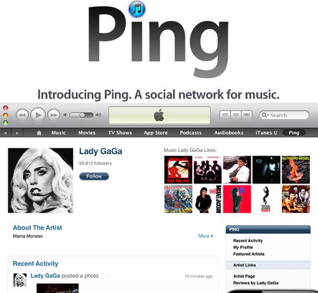 Facebook Blocks Apple's Ping Social Music Service