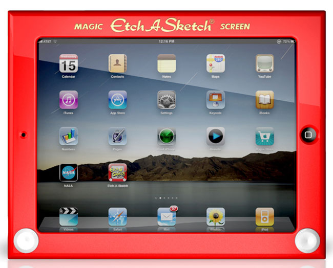 Official Etch A Sketch iPad Case