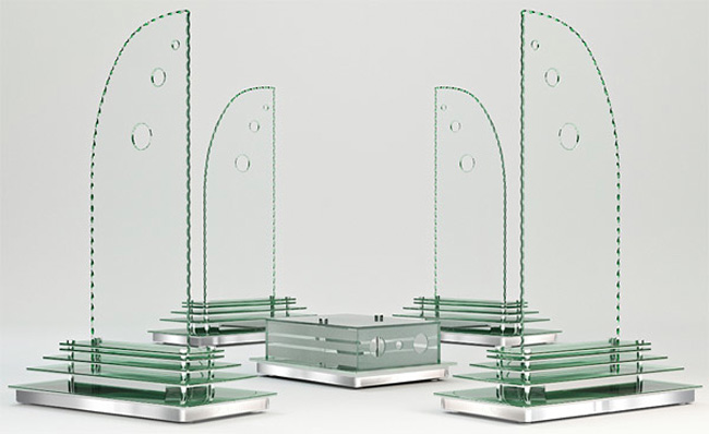 glass speakers