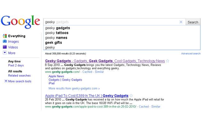 google instant