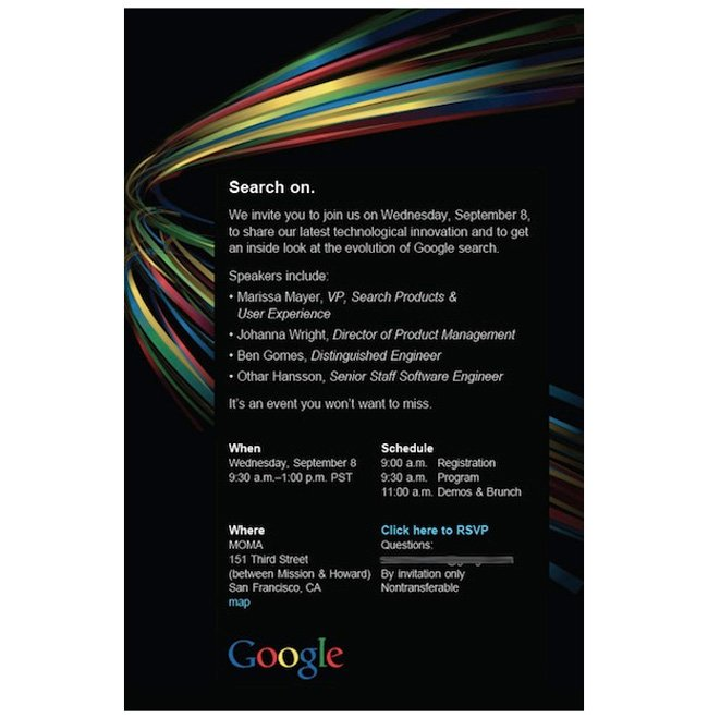 Googles september 8th event may reveal itunes killer music service google invite stopboris Images