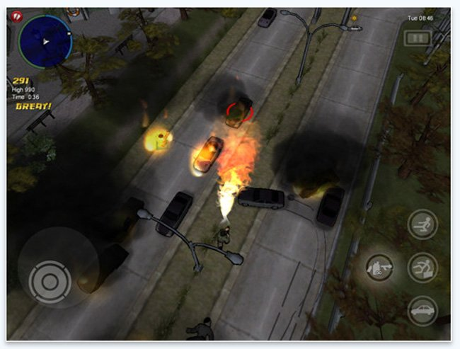 iPad Grand Theft Auto: Chinatown Wars HD