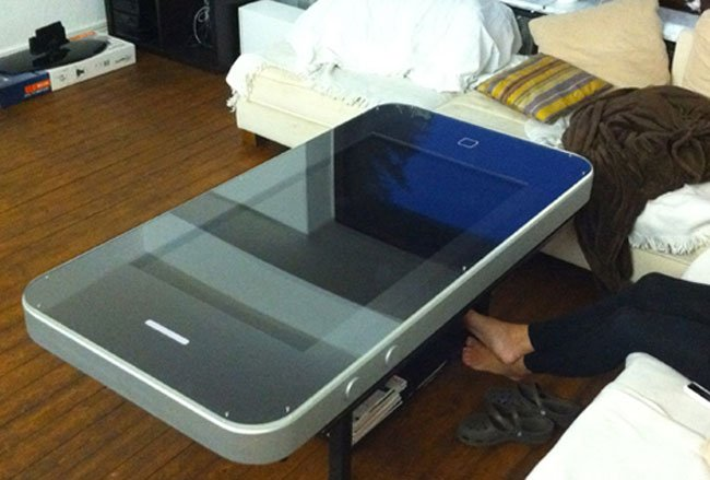 the iphone 4 coffee table. Black Bedroom Furniture Sets. Home Design Ideas