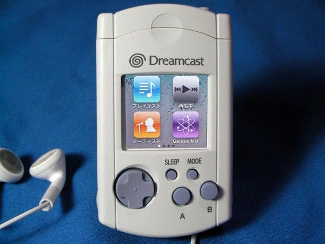 iPod Nano Combined With Dreamcast VMU