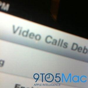 iPad Video Call Testing Shown On Debug Screen
