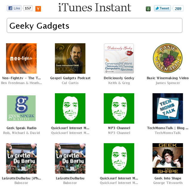 iTunes Instant Created By 15 Year Old