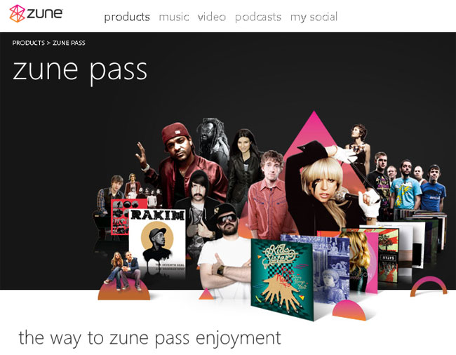 Microsoft Zune Pass UK
