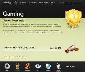 Mozilla Labs Launches New Gaming Development Project