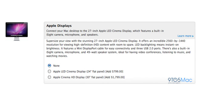 Apple 27 Inch LED Cinema Display To Go On Sale This Week?