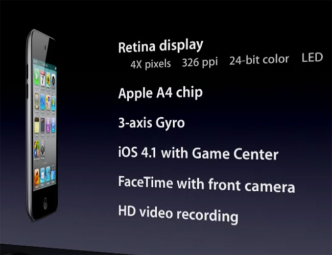 New Apple iPod Touch Announced