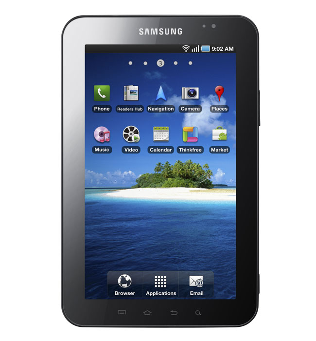 Samsung Galaxy Tab In Action (Video)