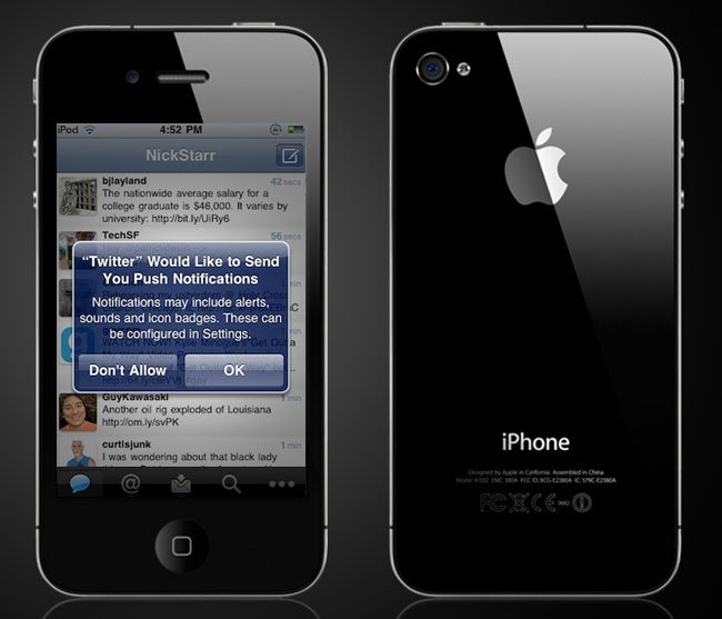 Twitter iPhone App To Get Push Notifications
