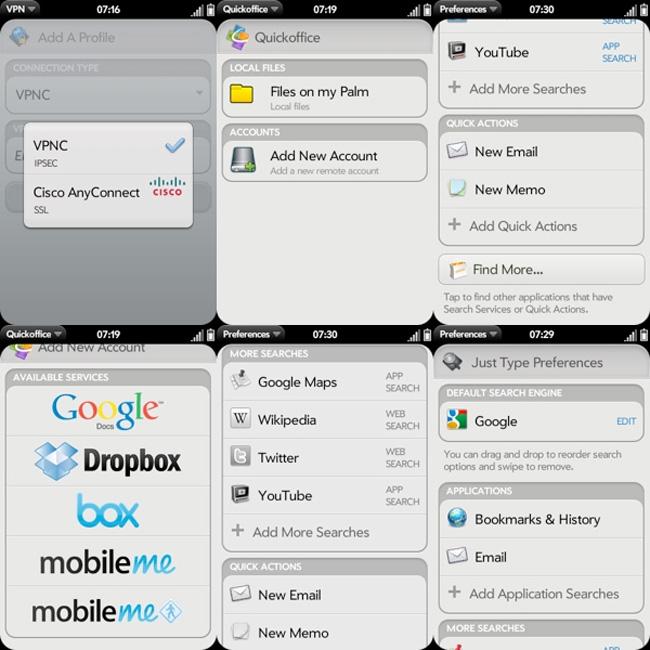webOS 2 screenshots