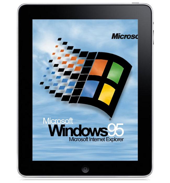 Windows 95 iPad