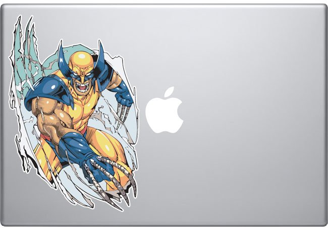 wolverine macbook decal