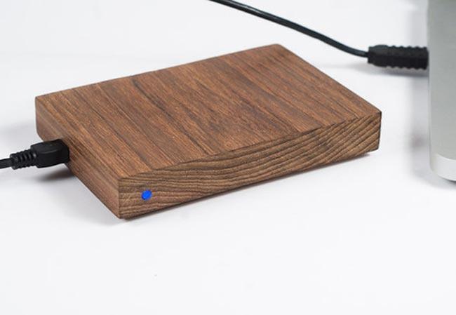 wooden hard drive enclosure