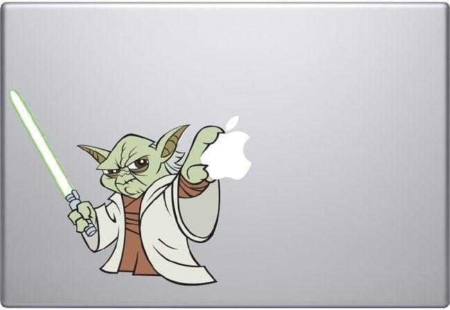 yoda macbook decal