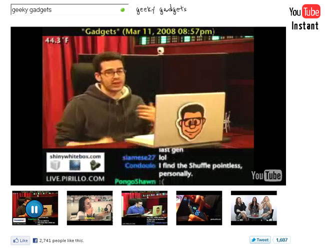 Google Instant For YouTube Created By Standford University Student