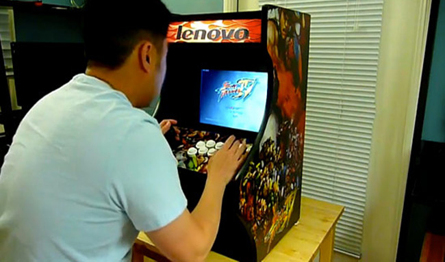 DIY ArcadeDock Gaming Cabinet Created From Lenovo Laptop