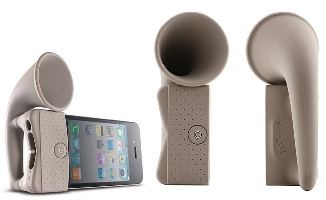 Bone Horn Stand iPhone Speaker