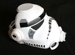 DIY Storm Trooper Helmet Made From Plastic Milk Bottles