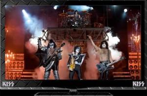 Rock Legends KISS Break New Ground With LCD HDTV Merch