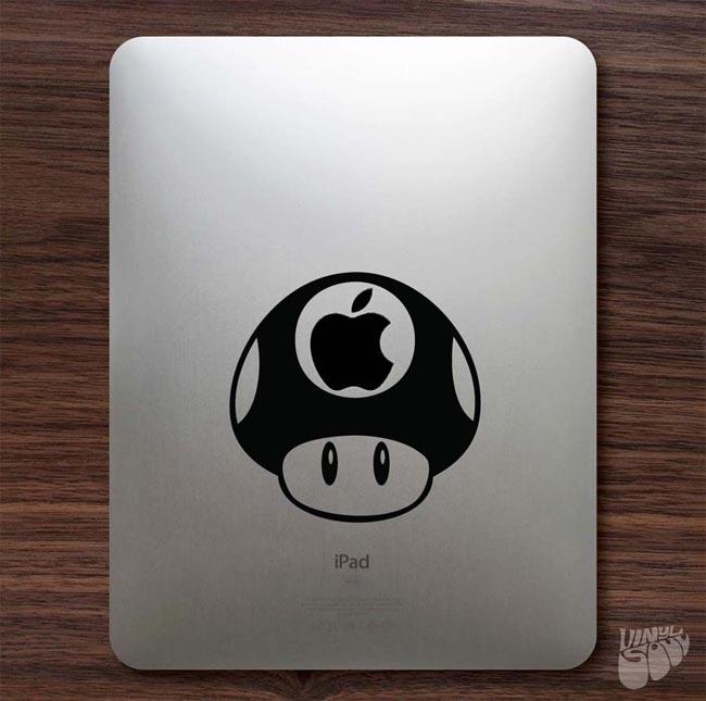 Mario Bros Mushroom iPad Decal