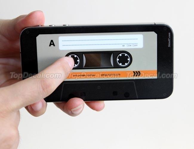 Retro Casette Tape iPhone 4 Decal