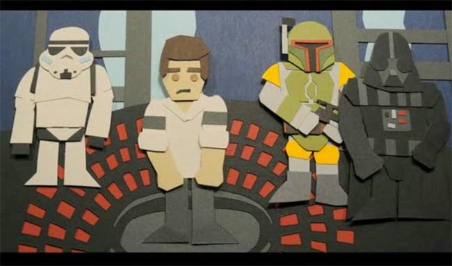 Star Wars Trilogy In Paper