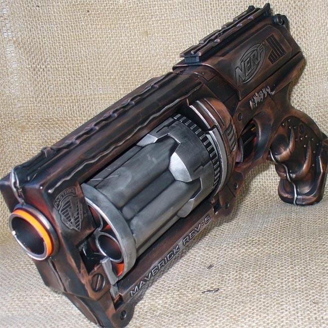 Awesome Steampunk Nerf N-Strike Maverick Gun
