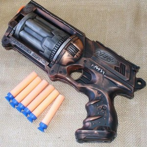 Awesome Steampunk Nerf N-Strike Maverick Gun