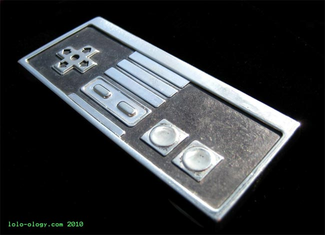 Sterling Silver NES Controller Belt Buckle
