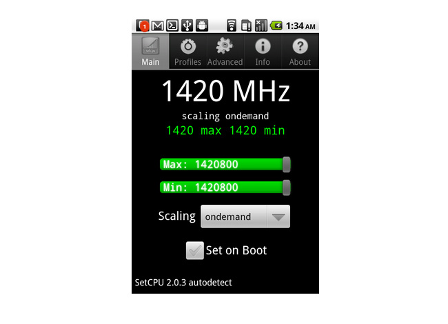 T-Mobile G2 Overclocked To 1.4GHz