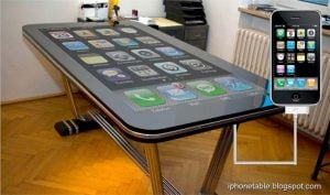 Table Connect Multitouch iPhone Desk