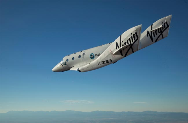 Richard Branson's Virgin Galactic VSS Enterprise Completes First Manned Flight