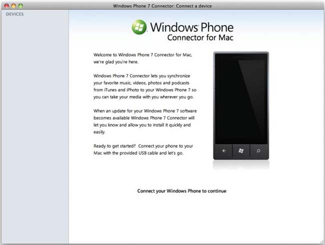 Windows Phone Connector For Mac