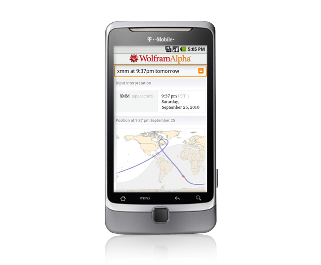 WolframAlpha's Android App