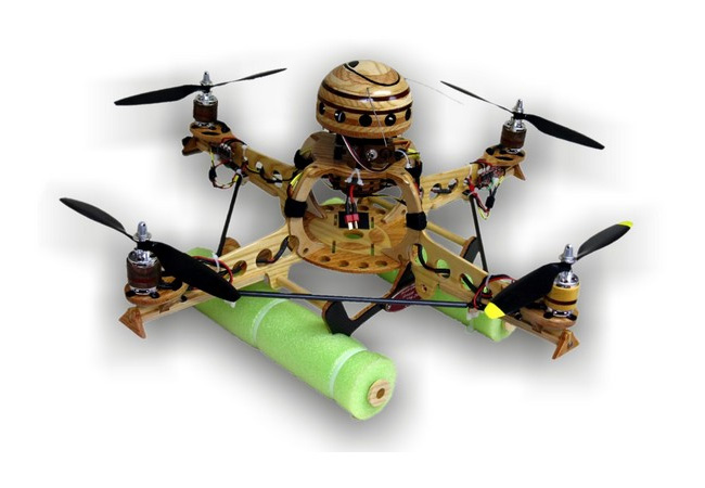 Wooden Quadrocopter