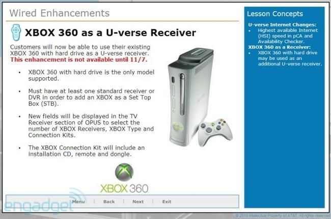Xbox 360 AT&T TV