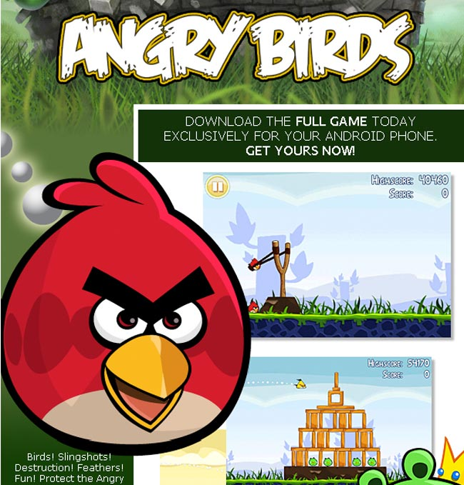 Angry Birds For Android Now Available