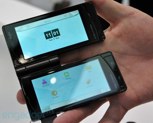 Fujitsu's Dual Display Touchscreen Smartphone
