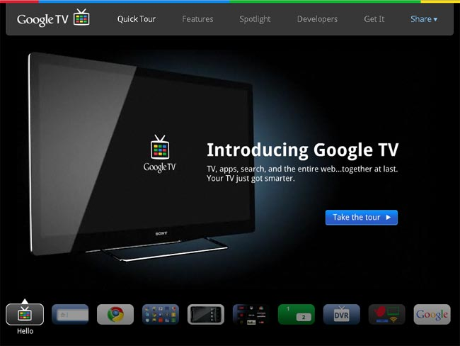 Google TV Website