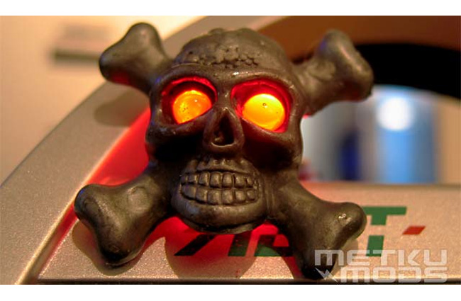 hard drive activity skull