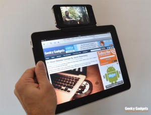 DIY iPad iPhone Connector Clip, Lets You Watch Videos Whilst Surfing The Web