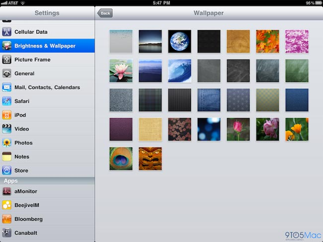 iOS 4.2 Adds New Wallpapers To The iPad